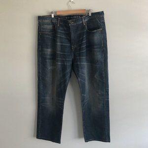 Sean John Athlete Tapered Fit Blue Stretch Denim Jeans Men's Size 42 x 32